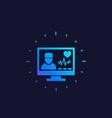 online medical diagnosis icon vector image vector image