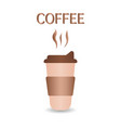 paper cup for hot and cold drinks isolated vector image vector image