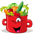 pot full of vegetable vector image