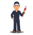 professional auto mechanic or plumber in uniform vector image