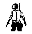 pubg player black and white image vector image vector image