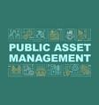 public asset management word concepts banner vector image vector image