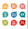 sale promo labels and stickers collection 3 vector image vector image