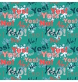 Seamless pattern background with the words yes and vector image vector image