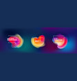set abstract liquid elements for background vector image vector image