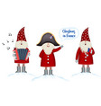 set christmas card template festive holidays in vector image