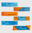 set of abstract blue and orange banners vector image