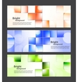 Set of banners with bright squares vector image vector image