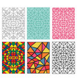 set of seamless pattern in traditional mosiac vector image vector image
