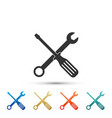 spanner and screwdriver tools icon isolated vector image