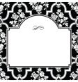 square fancy rose frame vector image vector image