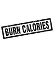 square grunge black burn calories stamp vector image vector image