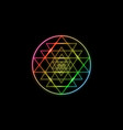 sri yantra sacred geometry colors chakras neon vector image vector image