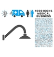 Tap Mixer Icon with 1000 Medical Business vector image vector image