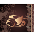 tea cup background vector image vector image