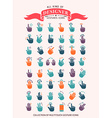 The Gesture Icon Set vector image vector image