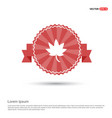 tree icon - red ribbon banner vector image