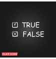 True and False icon vector image vector image