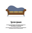 Vintage Three Seat Sofa vector image vector image