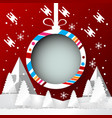 winter season with christmas ball banner design vector image