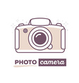 creative photo camera with text photo cam vector image