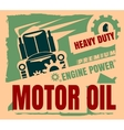 Vintage Label Design Template Motor oil vector image