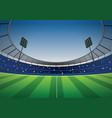 soccer football stadium background vector image