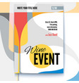 template of poster design layout for vector image
