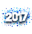 2017 background with blue drops vector image vector image