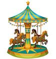 A merry-go-round ride vector image vector image