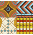 Africa set of 4 seamless patterns vector image vector image