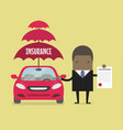 african businessman insurance services conceptual vector image