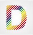 Alphabet Letter D vector image vector image