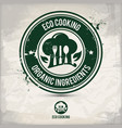 alternative eco friendly cooking stamp vector image