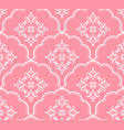 beautiful pink pattern vector image vector image