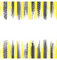 black and yellow tire frame vector image vector image