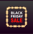 black friday sale banner background with frame vector image vector image