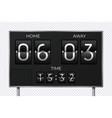 black retro scoreboard stadium soccer countdown vector image vector image