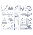 business charts and diagrams set in doodle style vector image vector image
