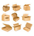 carton packaging box vector image vector image