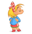 cartoon funny girl vector image