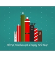 Christmas Holiday Characters Graphic vector image vector image