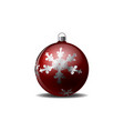 christmas tree with a snowflake pattern vector image vector image