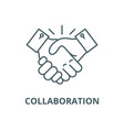collaboration line icon linear concept vector image vector image