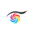 colorful eye vision logo symbol vector image