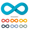 Colorful Paper Infinity Symbols Set Isolated on vector image vector image