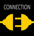 concept connection or disconnection electricity vector image vector image