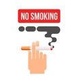 concept of nicotine consumption smoking pregnant vector image vector image