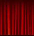 creases drapery fabric red curtain seamless vector image
