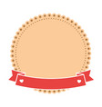 decorative frame with ribbon ico vector image vector image